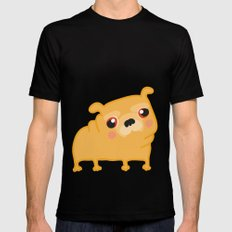 Pug  Mens Fitted Tee MEDIUM Black