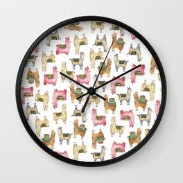 Llama love / Alpaca adventure wanderlust travel / animal baby nursery gift for her shower decor Wall Clock