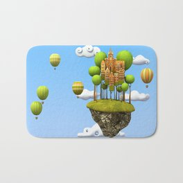 New City in the Sky Bath Mat