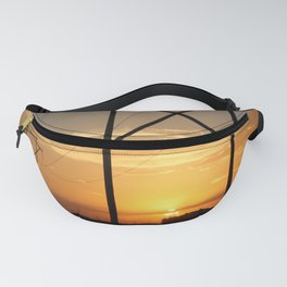 Kansas Power line Sunset Fanny Pack