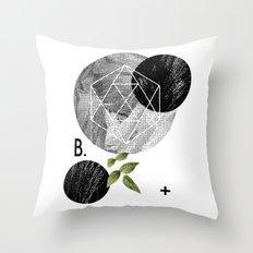 B-plus. Throw Pillow