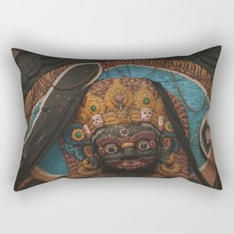Temples and Architecture of Kathmandu City, Nepal 003 Rectangular Pillow