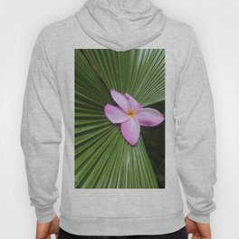 Pink Plumeria Flower Hoody