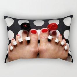 Rosy Toes Rectangular Pillow