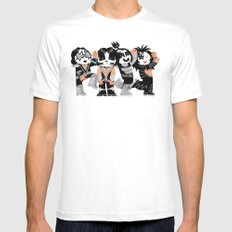 KISS!!!!! White MEDIUM Mens Fitted Tee