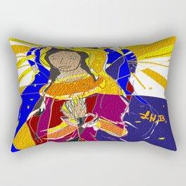 The Prayer Lady Oil Rectangular Pillow