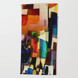 Main Street Beach Towel