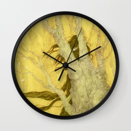 The nature of her soul Wall Clock