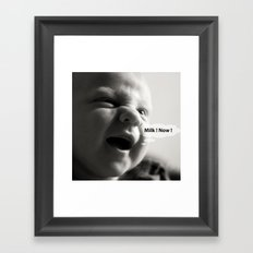 {milk monster} Framed Art Print