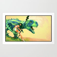 Dinoblues Art Print