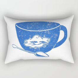 Bird Teacup Rectangular Pillow