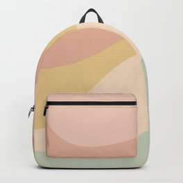 Abstract Color Waves - Neutral Pastel Backpack