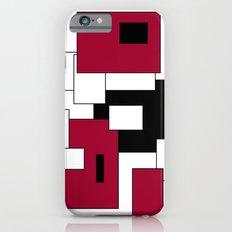 Squares - purple, black and white. Slim Case iPhone 6s