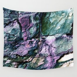 Textured Minerals Teal Green Purple Wall Tapestry