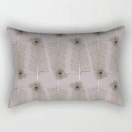 Peacock Feather Pattern Rectangular Pillow
