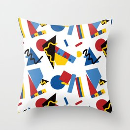 Postmodern Primary Color Party Decorations Throw Pillow