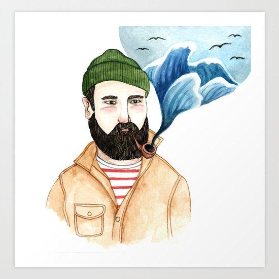 The Sailor and the Sea Art Print