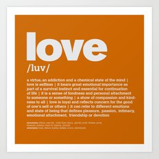definition LLL - Love 10 Art Print