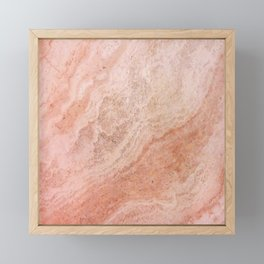 Polished Rose Gold Marble Framed Mini Art Print