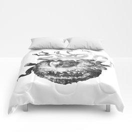 Beholder (Black & White) Comforters