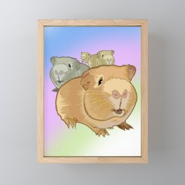 Guinea Pigs Framed Mini Art Print