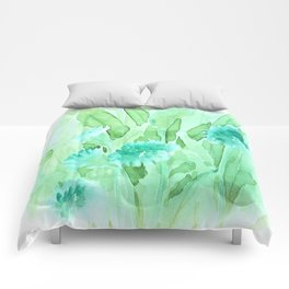 Soft Watercolor Floral Comforters
