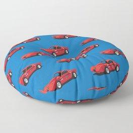 Vintage Hill Climb Race Car Floor Pillow