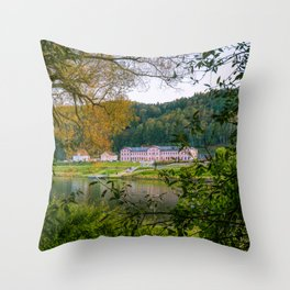 Saxon Switzerland, Germany Throw Pillow