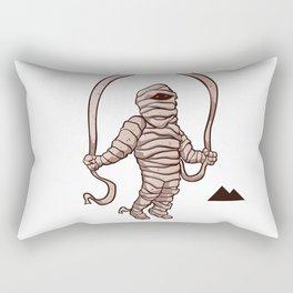 mummy jumping rope Rectangular Pillow