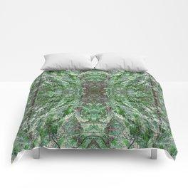 SUNSET SNOW IN CEDARS Comforters