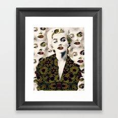 Monroe's buzz Framed Art Print