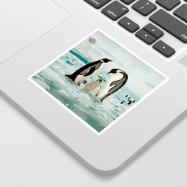 Emperor Penguin Family Sticker