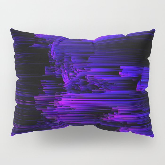 Ultraviolet Light Speed - Abstract Glitch Pixel Art Pillow Sham
