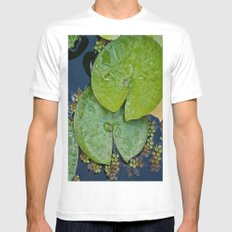 Water Lilies Mens Fitted Tee White MEDIUM