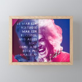 Rock Me Amadeus Framed Mini Art Print
