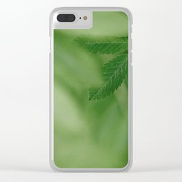 Spring life - Beautiful green rowan leaves in macro image Clear iPhone Case