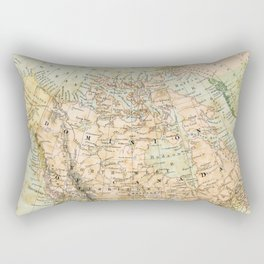 North America Vintage Map Rectangular Pillow