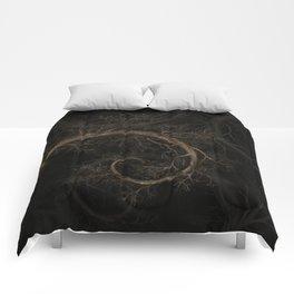 Golden spiral Tree #1 Comforters