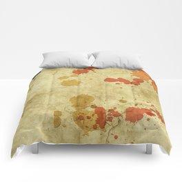 Vintage Paper Splash Comforters