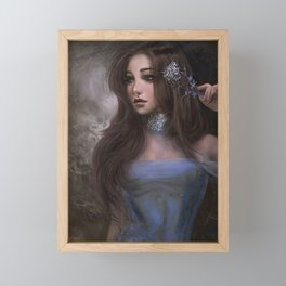 Romantic and elegant girl portrait Framed Mini Art Print