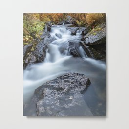 Stream in the fall Metal Print