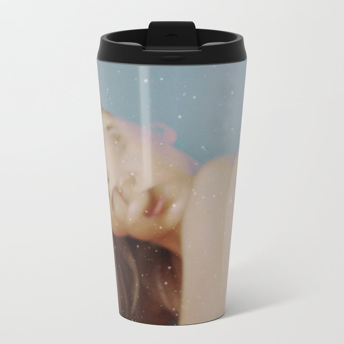 Gray as Snow Metal Travel Mug