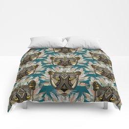 native mountain lion blue Comforters