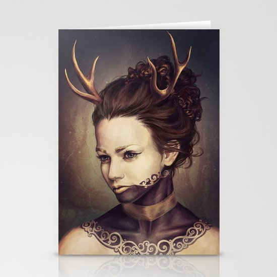Portrait of a Deer Stationery Cards
