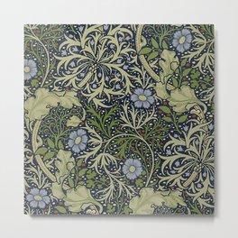 William Morris Seaweed Pattern Metal Print