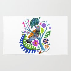 Bird Botanical Rug