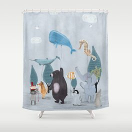 nature parade Shower Curtain