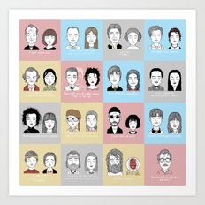 Sad Movie Couples Art Print
