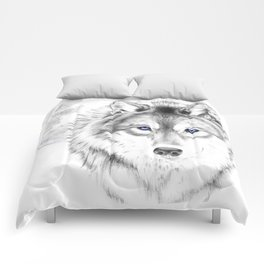 WOLF WHITE Comforters