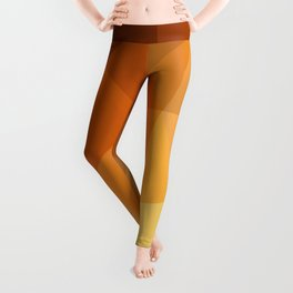 Shades Of Orange Triangle Abstract Leggings